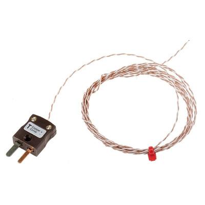 RS PRO Type T Thermocouple 2m Length, 1/0.2mm Diameter → +250°C