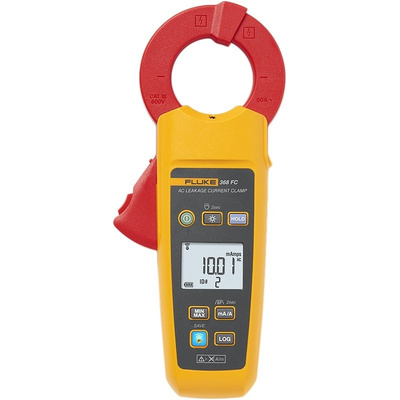 Fluke 368 Leakage Clamp Meter, Max Current 60A ac CAT III 600 V With RS Calibration