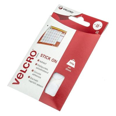 Velcro White Hook & Loop Tape, 16mm x 16mm