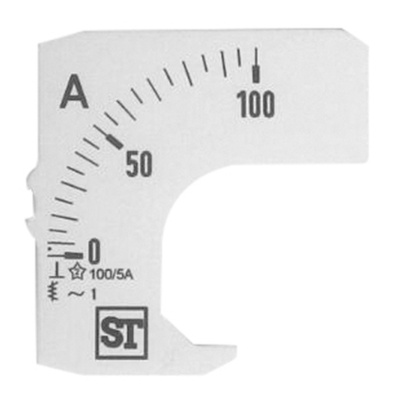 Sifam Tinsley Analogue Ammeter Scale, 100A, for use with 48 x 48 Analogue Panel Ammeter