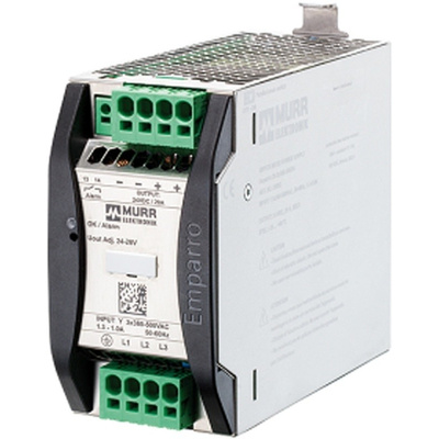 Murrelektronik Limited EMPARRO Switch Mode DIN Rail Power Supply with Optimum Performance, Reliable, Space Saving 400V