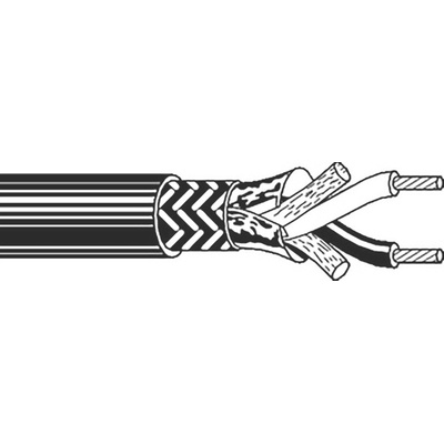 Belden Black Twinaxial Cable, 11.18mm OD 152m Reel