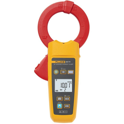 Fluke 369 Leakage Clamp Meter, Max Current 60A ac CAT III 600 V With RS Calibration