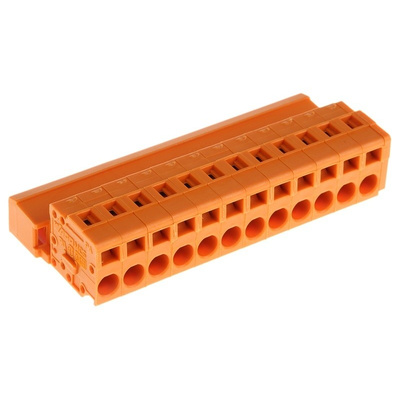 Wago, MCS-MIDI Classic 5.08mm Pitch, 12 Way Pluggable Terminal Block