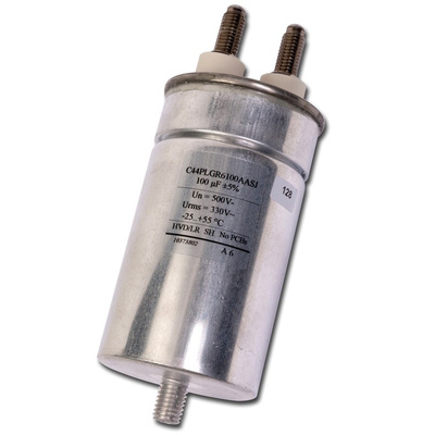 KEMET 100μF Polypropylene Capacitor PP 330 V ac, 700 V dc ±5% Tolerance Screw Mount C44P Series