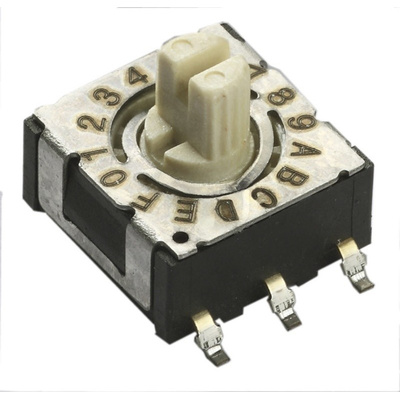 16 Way Surface Mount Rotary Switch SPST, Rotary Actuator