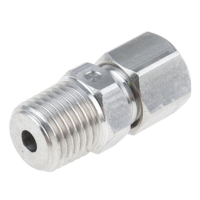 RS PRO Thermocouple Compression Fitting for use with Thermocouple With 4mm Probe Diameter, 1/4 NPT