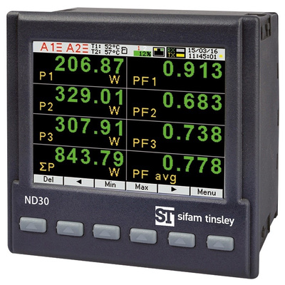 Sifam Tinsley ND30 LCD TFT Digital Power Meter, Type Electrical