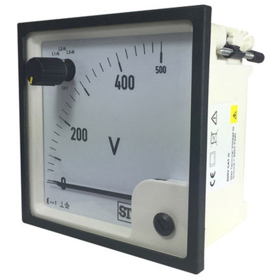 Sifam Tinsley AC Analogue Voltmeter, 500V, 68 x 68 mm,