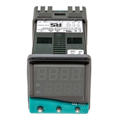 CAL 9500 PID Temperature Controller, 48 x 48 (1/16 DIN)mm, 2 Output Relay, SSD, 100 V ac, 240 V ac Supply Voltage