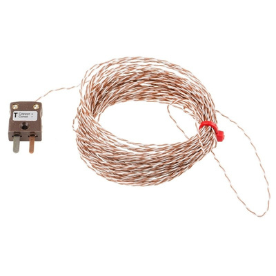 RS PRO Type T Thermocouple 10m Length, → +250°C