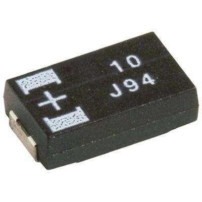 Panasonic Tantalum Capacitor 10μF 12.5V dc Polymer Solid ±20% Tolerance , POSCAP TPC