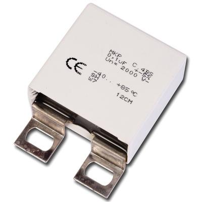 KEMET 1μF Polypropylene Capacitor PP 550 V ac, 850 V dc ±5% Tolerance Solder Lug C4BS Series