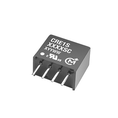 Murata Power Solutions CRE1 1W Isolated DC-DC Converter Through Hole, Voltage in 21.6 → 26.4 V dc, Voltage out