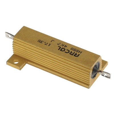 Arcol HS50 Series Aluminium Housed Axial Wire Wound Panel Mount Resistor, 4.7kΩ ±5% 50W