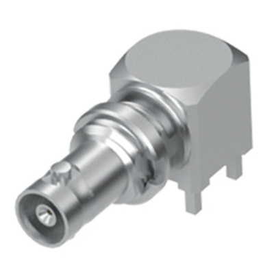 Samtec 75Ω Right Angle PCB Mount BNC ConnectorBulkhead Fitting, jack, Microwave