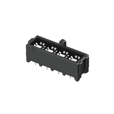 Samtec, IJ5 4mm Pitch 4 Way 1 Row Straight PCB Socket, Through Hole, Solder Termination