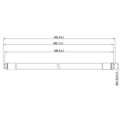 Sylvania ToLEDo 2700 lm 27 W LED Tube Light, T8, 5ft (1500mm)