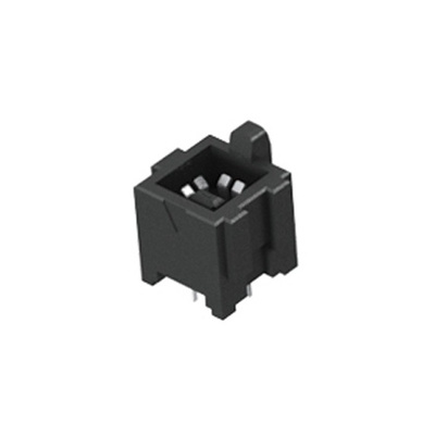 Samtec, IJ5 4mm Pitch 2 Way 1 Row Straight PCB Socket, Through Hole, Solder Termination