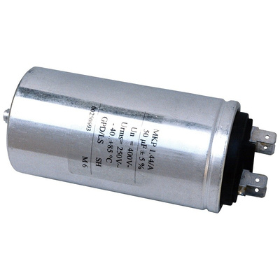 KEMET 10μF Polypropylene Capacitor PP 330 V ac, 600 V dc ±5% Tolerance Screw Mount C44A Series