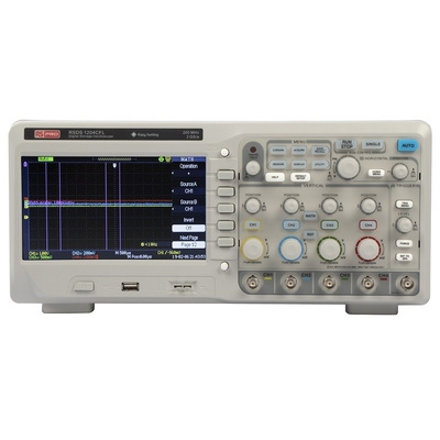 RS PRO RSDS1204CFL Bench Digital Storage Oscilloscope, 200MHz, 4 Channels