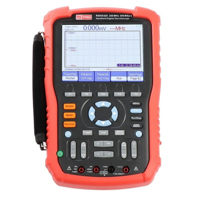 RS PRO RSHS820 Handheld Oscilloscope, 200MHz, 2 Channels
