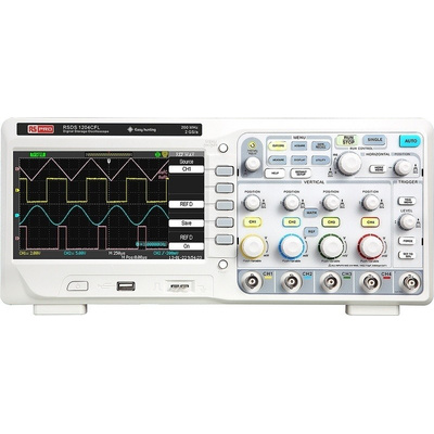 RS PRO RSDS1204CFL Bench Digital Storage Oscilloscope, 200MHz, 4 Channels With RS Calibration