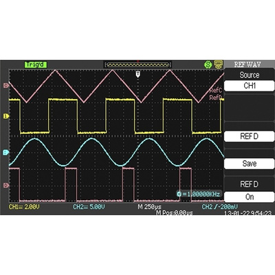 RS PRO RSDS1204CFL Bench Digital Storage Oscilloscope, 200MHz, 4 Channels With UKAS Calibration