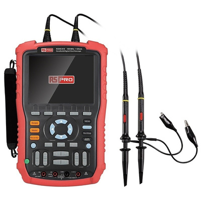 RS PRO RSHS810 Handheld Digital Storage Oscilloscope, 100MHz, 2 Channels With RS Calibration