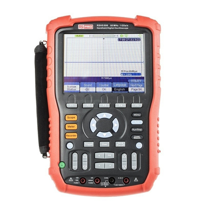 RS PRO RSHS806 Handheld Digital Storage Oscilloscope, 60MHz, 2 Channels With UKAS Calibration