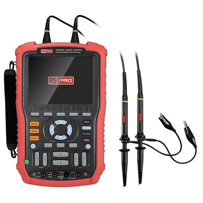 RS PRO RSHS820 Handheld Digital Storage Oscilloscope, 200MHz, 2 Channels With UKAS Calibration