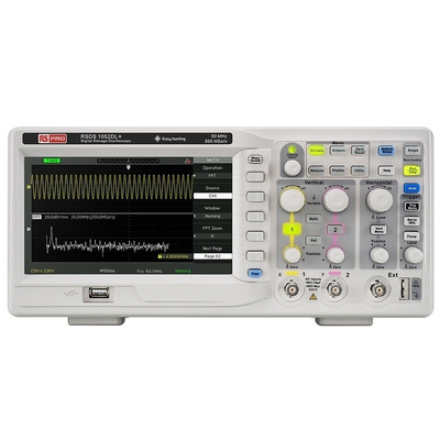 RS PRO RSDS 1052 DL + Bench Digital Storage Oscilloscope, 50MHz, 2 Channels With UKAS Calibration